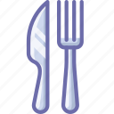 fork, knife, restaurant