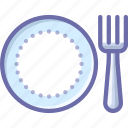 fork, plate, restaurant