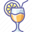 cocktail, drink, lemon icon