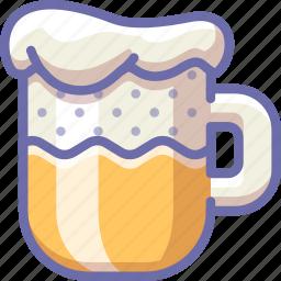 beer, foam, mug icon