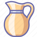 cream, jug, milk icon