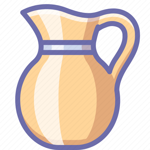 cream, jug, milk icon