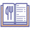 book, menu, restaurant icon