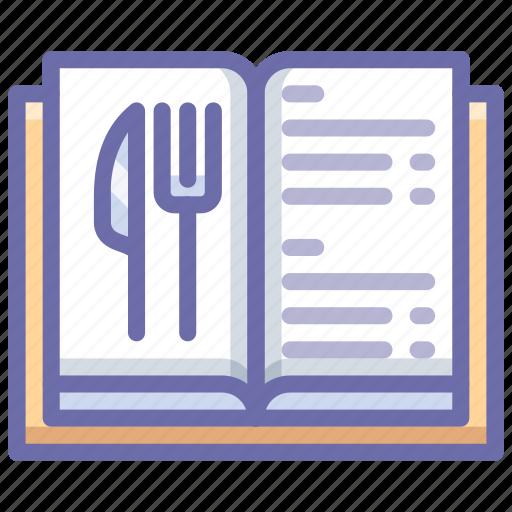 book, menu, restaurant icon