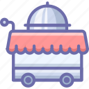 cart, food, room service icon