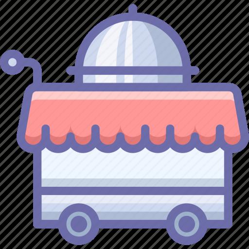 cart, food, room service icon