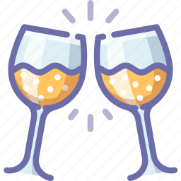 clink, glass, toast icon