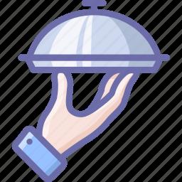 food, hand, service icon