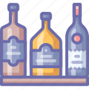 bar, bottles, whiskey icon