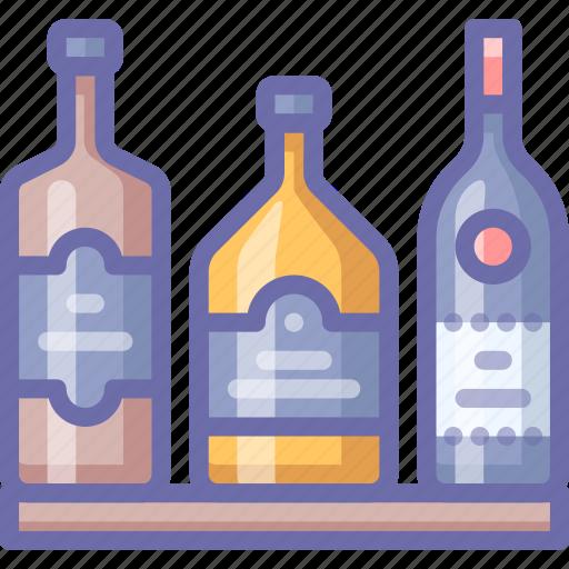 bar, bottles, whiskey icon