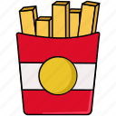 food, french, fries, junk, potato, snack icon