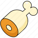bone, food, leg, meat, pork icon