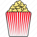 cinema, movie, popcorn icon