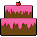 birthday, cake, cupcake, food icon