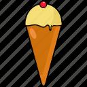 cone, cone ice cream, ice cream, ice cream cone icon