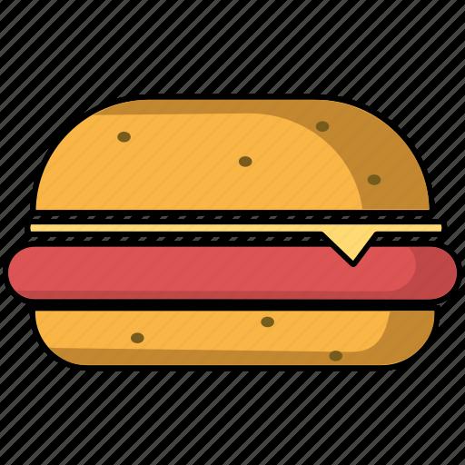 burger, hamburger, snack icon