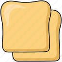 bread, loaf, sliced icon