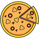 food, italian, pizza icon