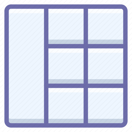 grid, wireframe icon