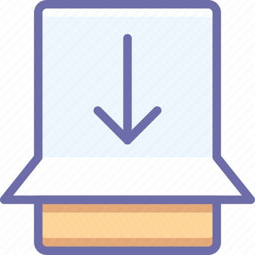 gesture, slide, touch icon