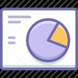 analytics, pie, wireframe icon