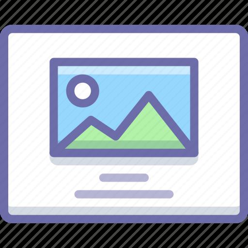 image, layout, photo icon