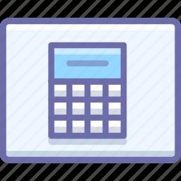 calculator, wireframe icon