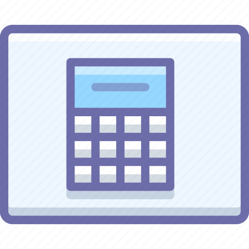 Calculator, wireframe icon - Download on Iconfinder