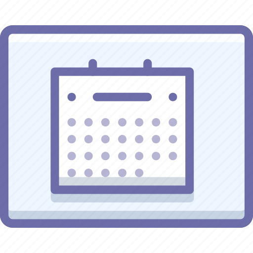calendar, layout, wireframe icon