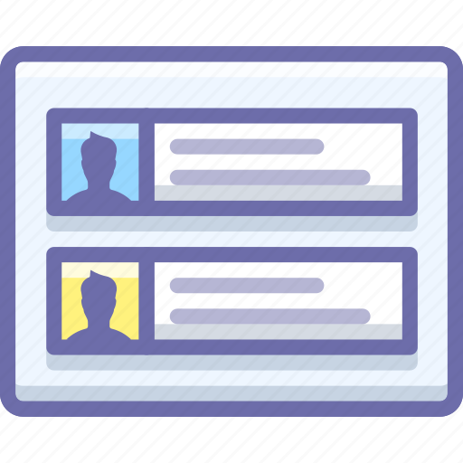 accounts, grid, profiles icon