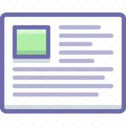 article, grid, text icon