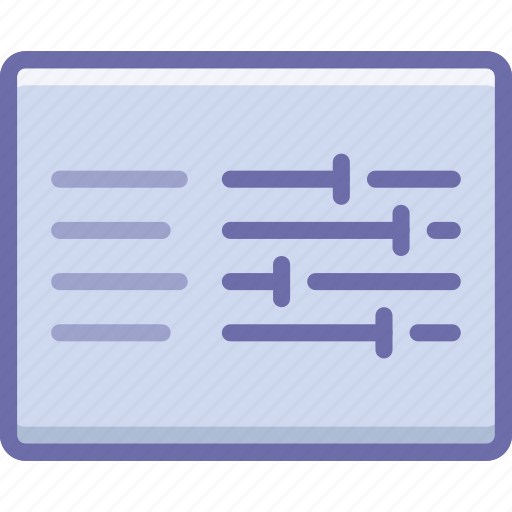 control, layout, options icon