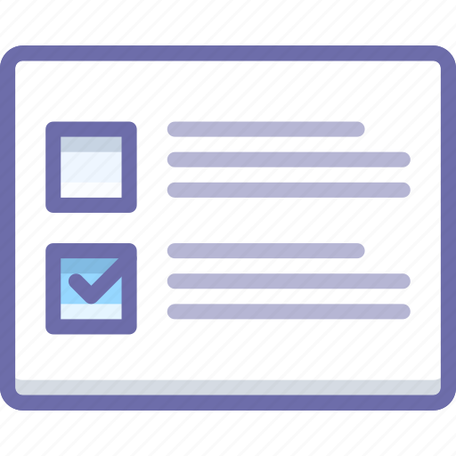 checkbox, layout, list icon