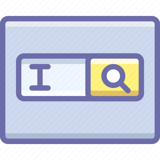 form, search, text field icon