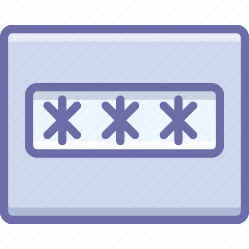 field, layout, password icon