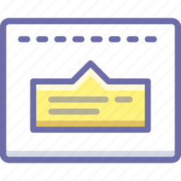 layout, popup, tip icon