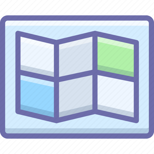layout, map icon