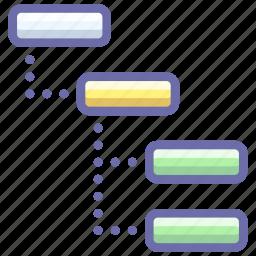 structure, thread, tree icon