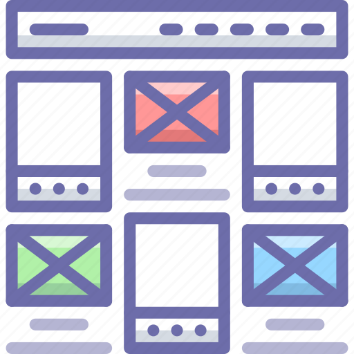layout, project, website icon