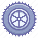 studded, tire, wheel icon