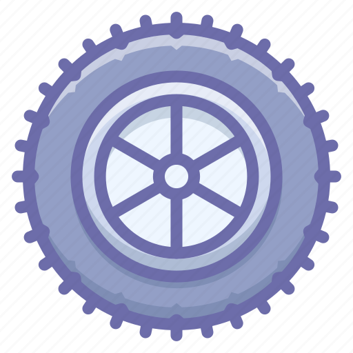 studded, tire, wheel icon