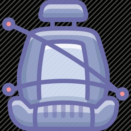 belt, chair, safety icon