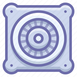 electric, engine, fan icon