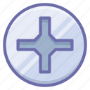 cross, pin, screwdriver icon