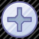 cross, pin, screwdriver