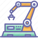 factory, line, robot icon