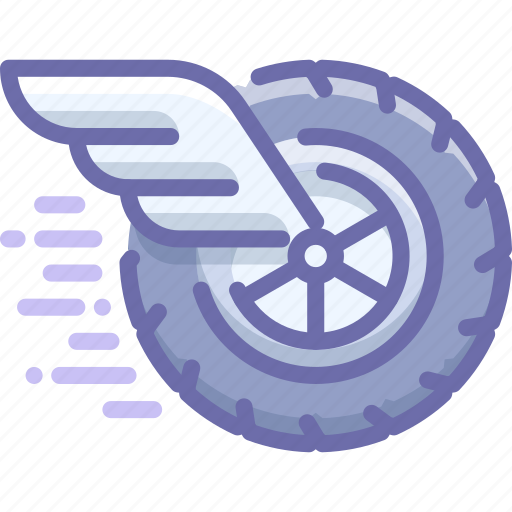 race, wheel, wing icon
