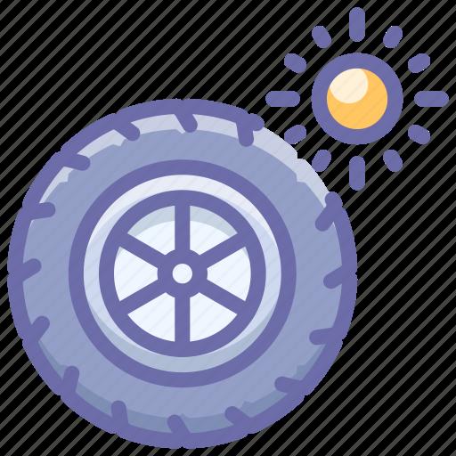 summer, tires, wheel icon