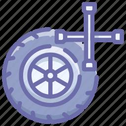 car, service, wheel icon