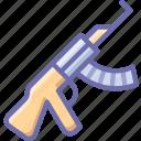 kalashnikov, gun, rifle